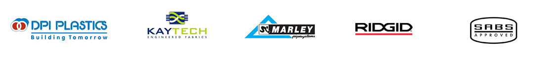 Drainmen uses brands: DPI Plastics, Kaytech, SCMarley, RIDGID all SABS approved