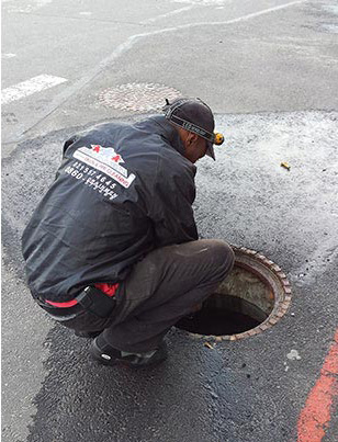 Drain Cleaning Action